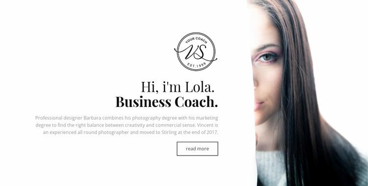Professional business coach  Website Mockup