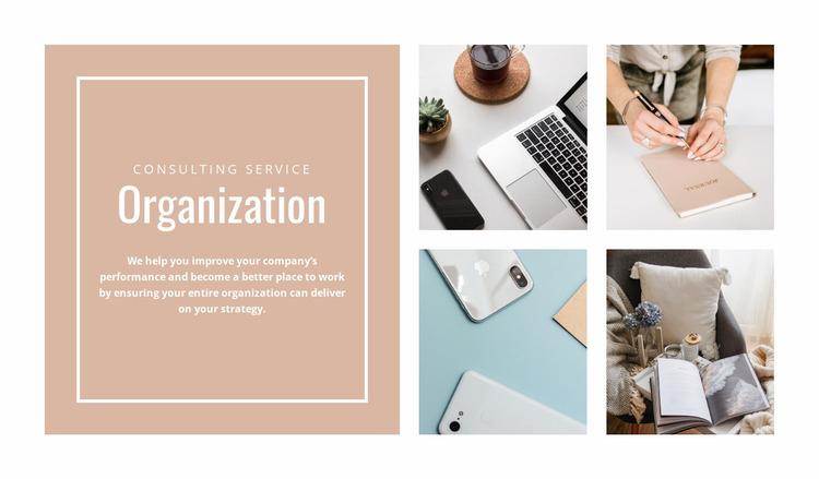 Business organization Website Mockup