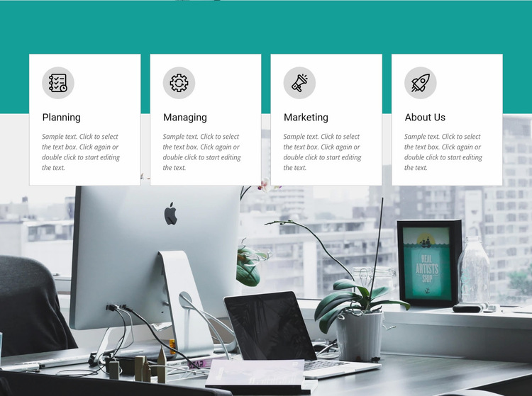 Modern communication and technology Website Builder