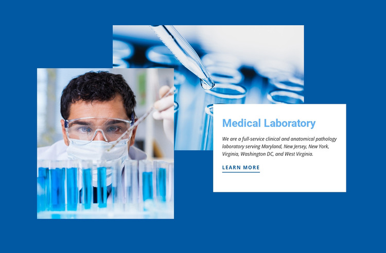 Clinical laboratory HTML Template