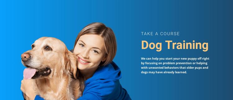 Every dog needs training HTML Template