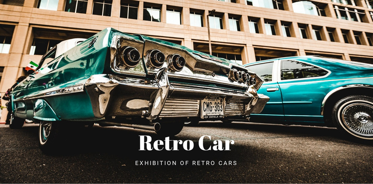 Old Retro Cars Website Template