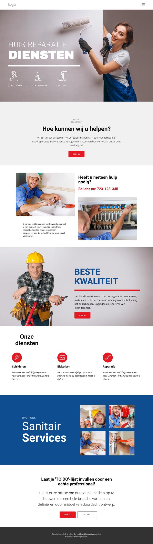 Huisreparatie en constructie Website sjabloon