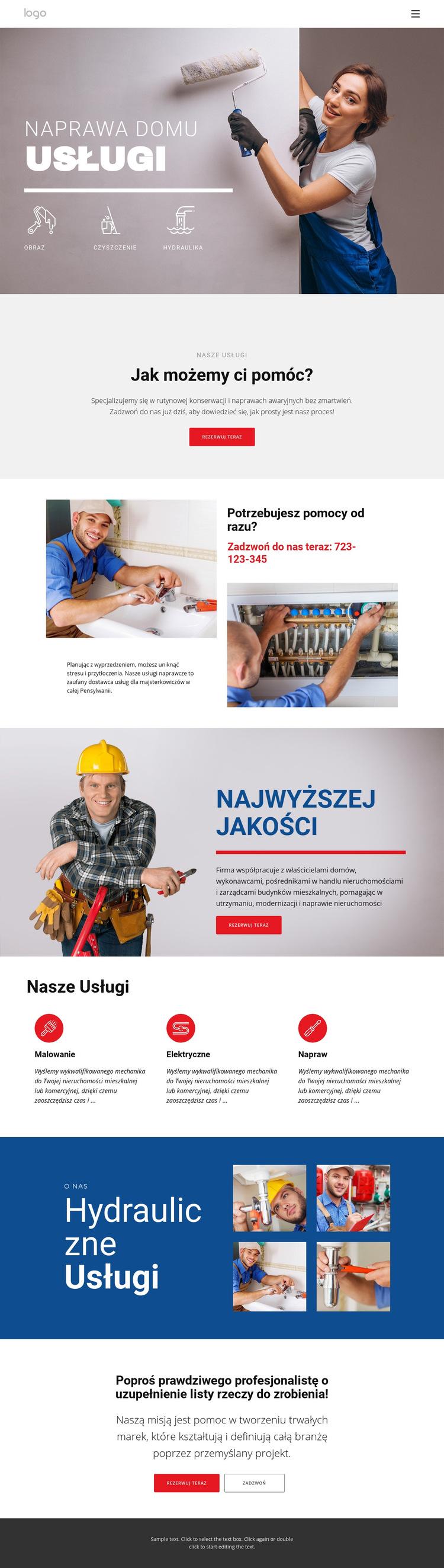 Remont i budowa domu Szablon witryny sieci Web