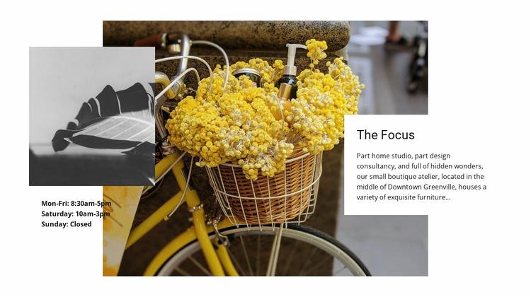 Focus on cute details Website Template