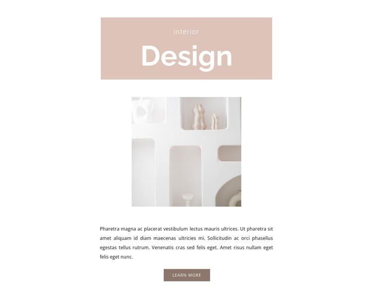 Room design HTML Template