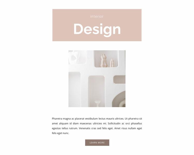 Room design Website Mockup