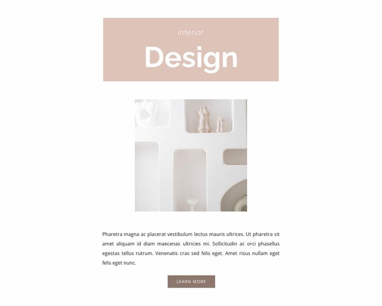 Room design Website Template
