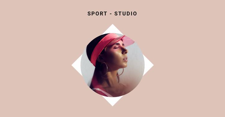 Sports studio Website Mockup