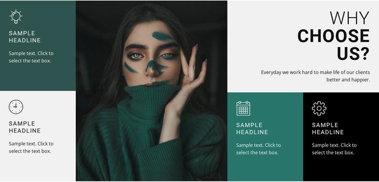 Fashion stylist Joomla Page Builder