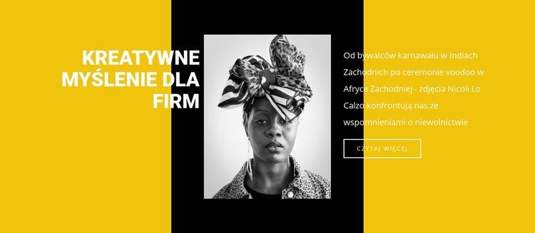 Historia niewolnictwa Szablon witryny sieci Web