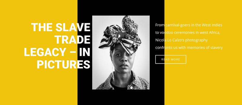 History of slavery Website Maker