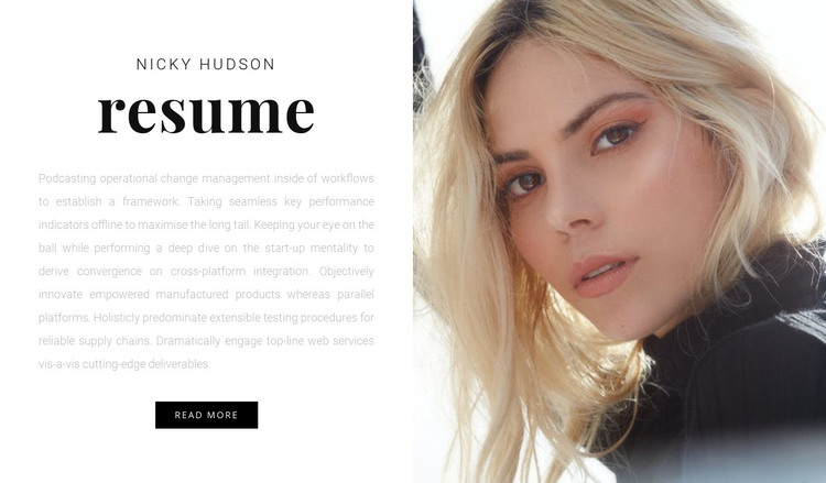 tell us about yourself HTML Template