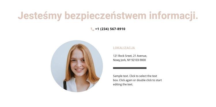 Agencja Informacyjna Szablon witryny sieci Web