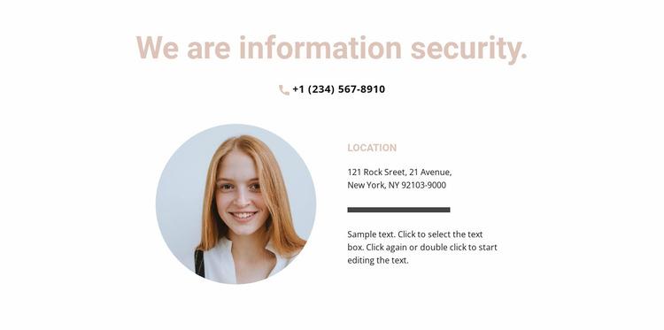 Information Agency Website Mockup