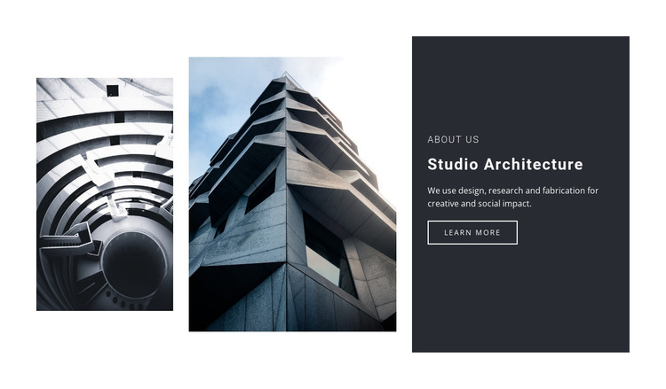 The signs of life in architecture HTML Template