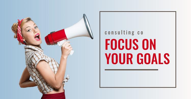 Focus on your goals  Html Website Builder