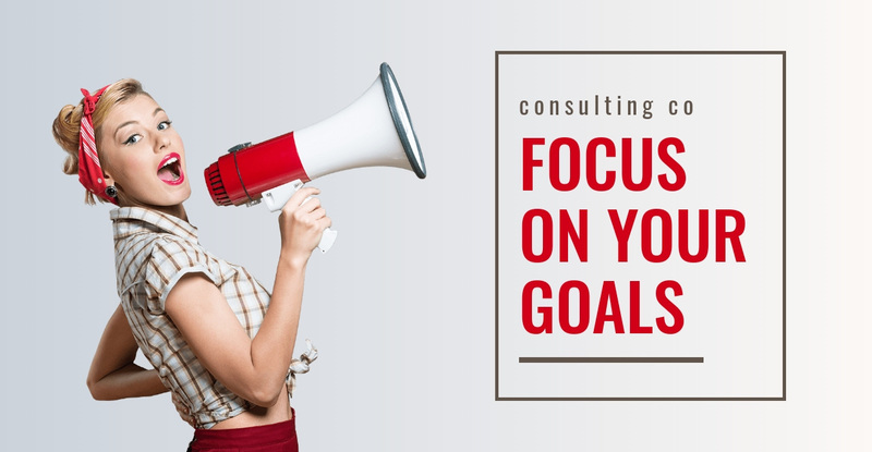 Focus on your goals  Website Creator