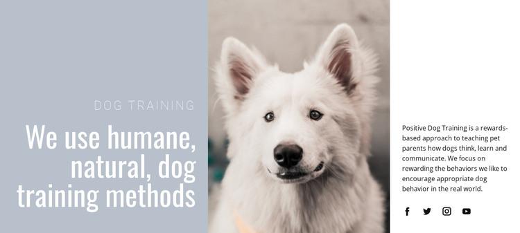 Humane training HTML Template
