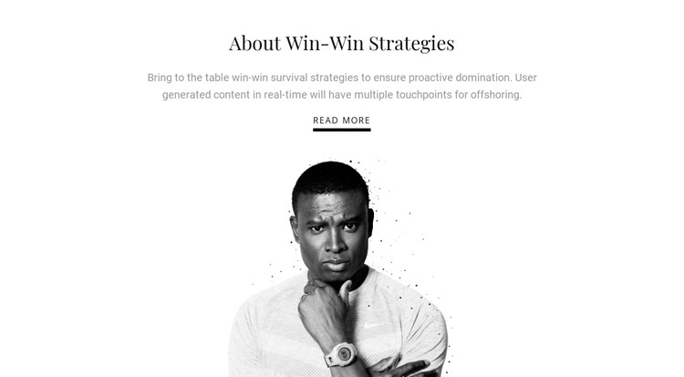 About business strategies  HTML5 Template