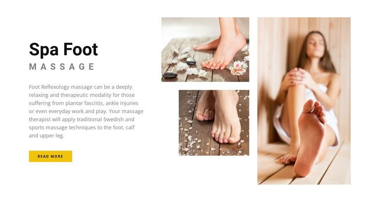Spa relax center Web Design