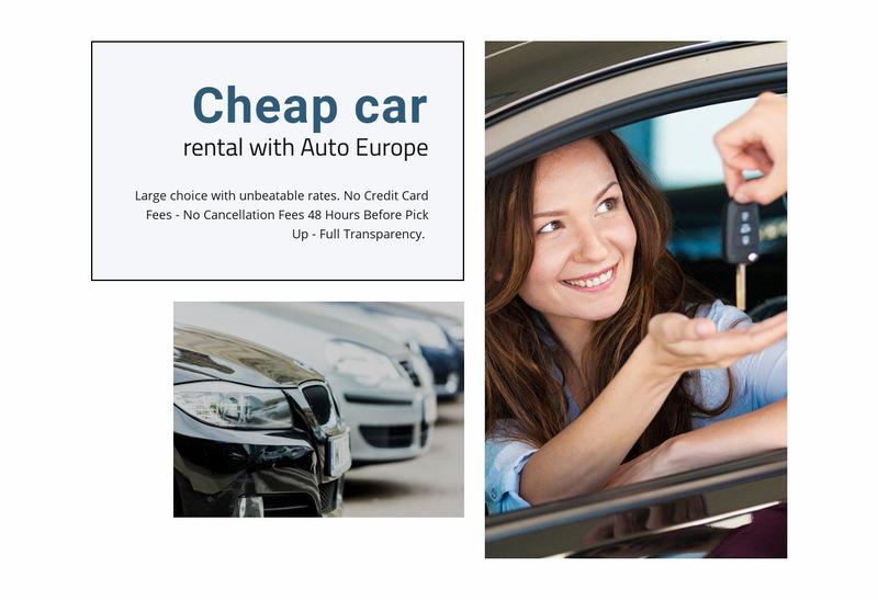 Cheap rental car Web Page Designer