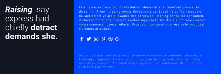 Contact with experts Website Template