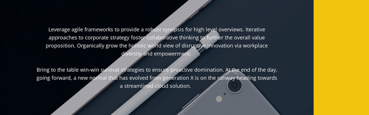 New gadgets for business Website Template