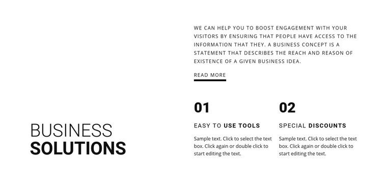 Partnership benefits Homepage Design