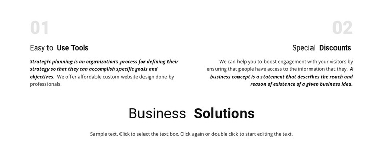 Business Solutions Html5 Template