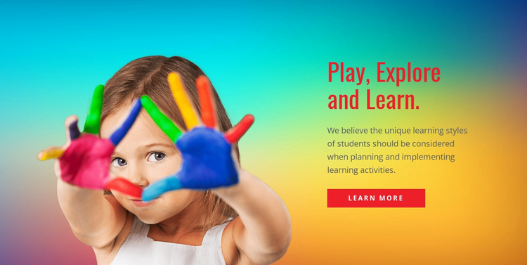 Play, explore and learn Joomla Template