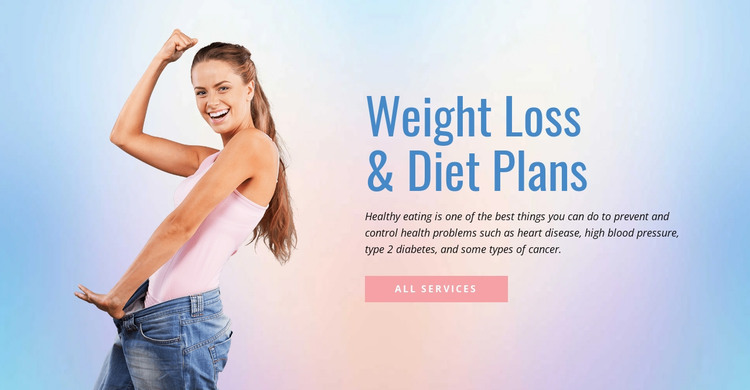 Diet and weight loss HTML Template