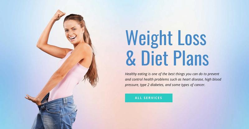 Diet and weight loss Website Maker