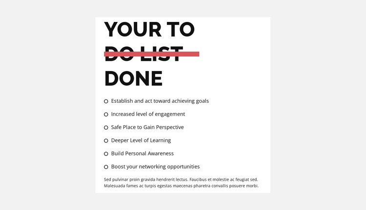 To do list CSS Template
