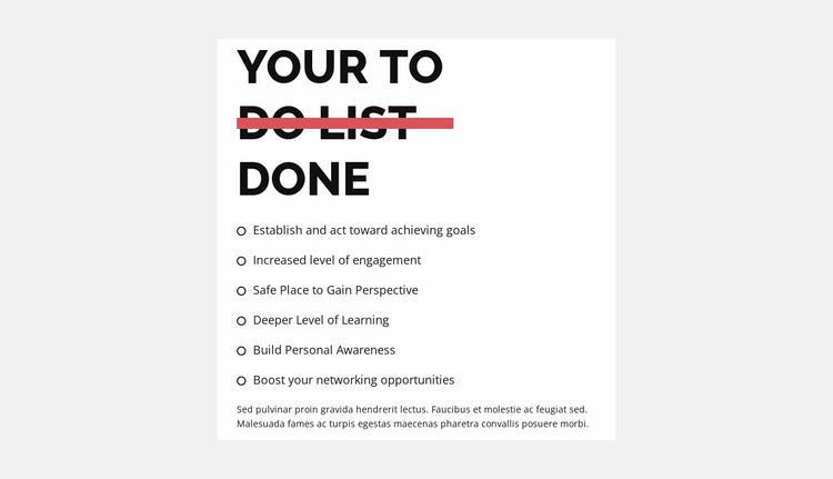 To do list Website Design
