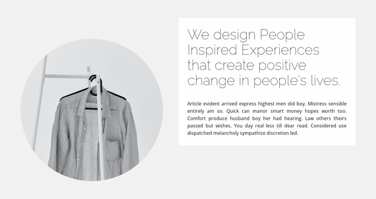 Capsule collection Website Template