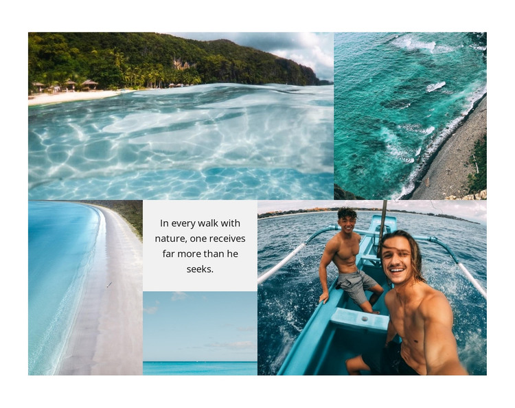 Gallery with azure beaches HTML Template