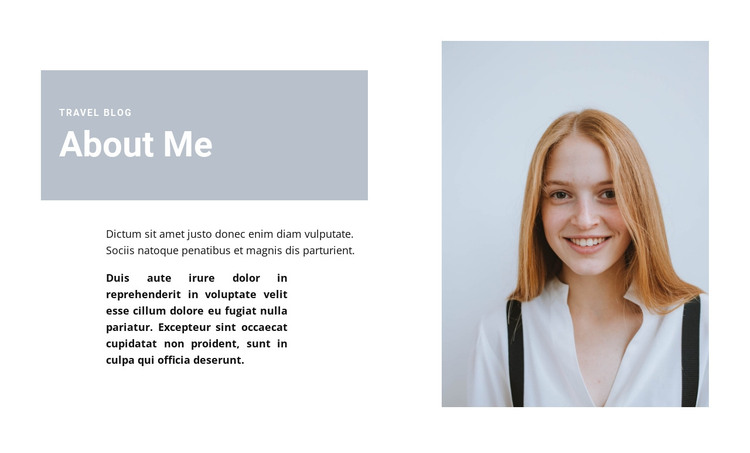 About journalist HTML Template