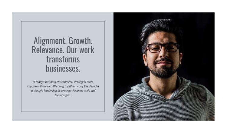 Transformation consulting Joomla Page Builder