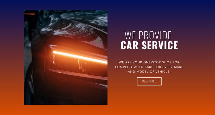 Service station Website Mockup