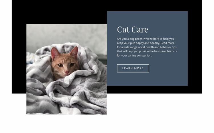 Pets care Website Template