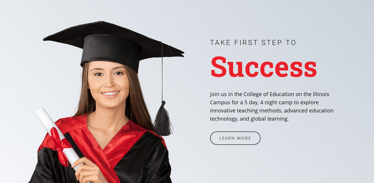 Learning for success Homepage Design