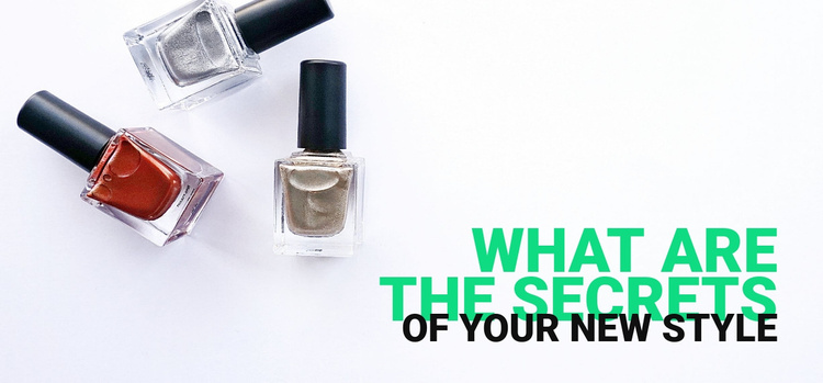 Secrets for a new style Website Template