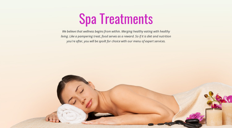 Spa relax treatment Homepage Design