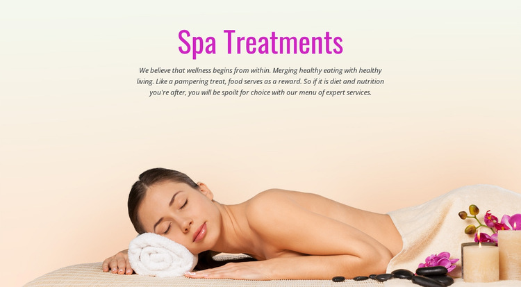 Spa relax treatment HTML5 Template