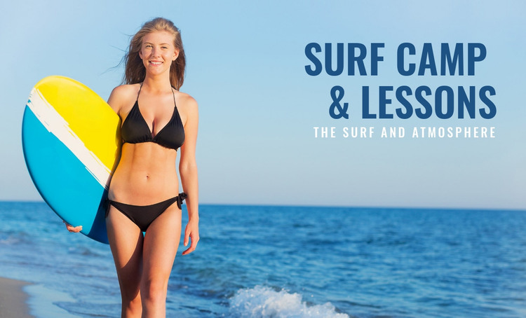 Surf camp and lessons  HTML Template