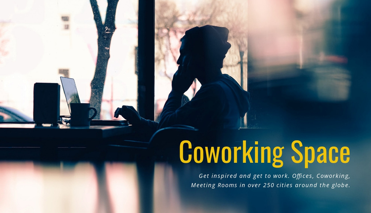 Coworking space One Page Template