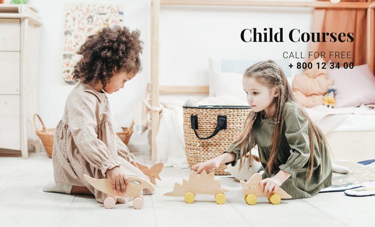 Child development courses Website Template