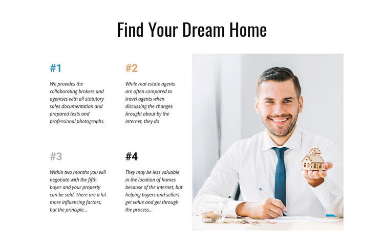 Results oriented professionals HTML Template