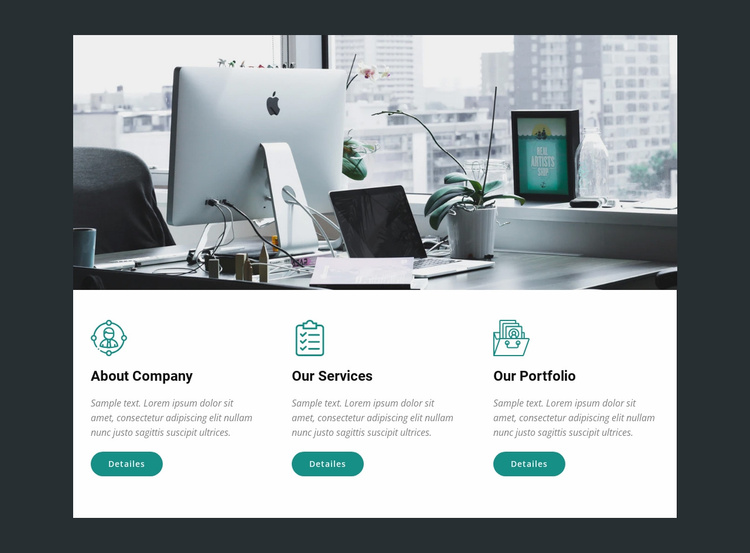 We translate ideas into drawings Website Template